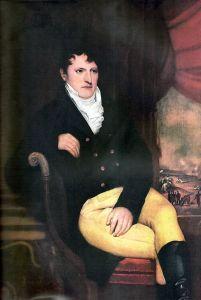 Retrato de Manuel Belgrano realizado en Londres en 1815 por el artista francés François Casimir Carbonnier. Actualmente el cuadro se conserva en el Museo Municipal de Artes Plásticas Dámaso Arce de Olavarría.