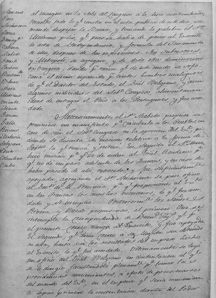 Acta Secreta 19-7-1816-nro. 2